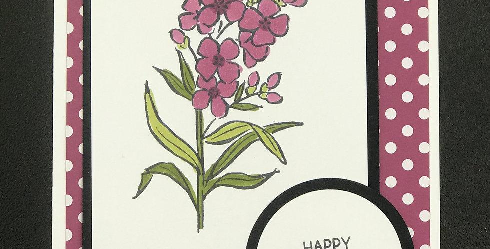 """Card, 4.25""""x5.5""""- Happy Birthday."""