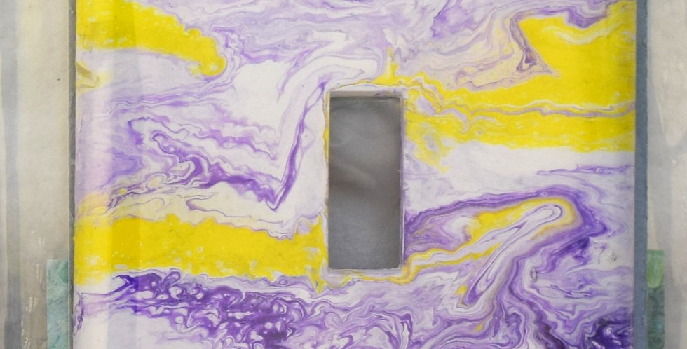 Acrylic Pour, Single Switch Plate