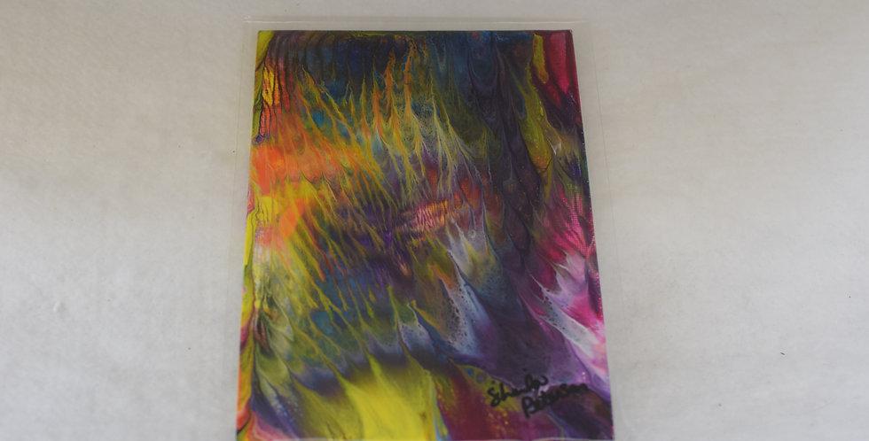 Acrylic Pour Multi color - 5 x 7 on Canvas