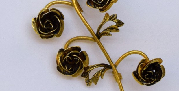 Damascene (Spain) Rose pin