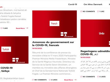 Oplysninger om Corona nu på 14 sprog