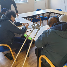 Mentoring sessions at St Matthews House