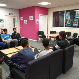 Mentoring session with local police