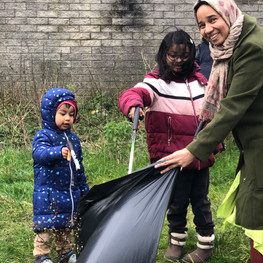 Residents at Clean Up Day