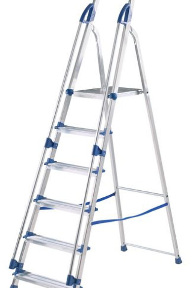 Manual Handling - Blue Seal Aluminium Stepladders with Safety Handrails