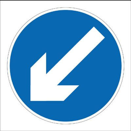 Safety / General / Construction Signs - Stanchion - Diagonal Arrow Down Left