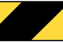 Anti-slip black and yellow floor tape
