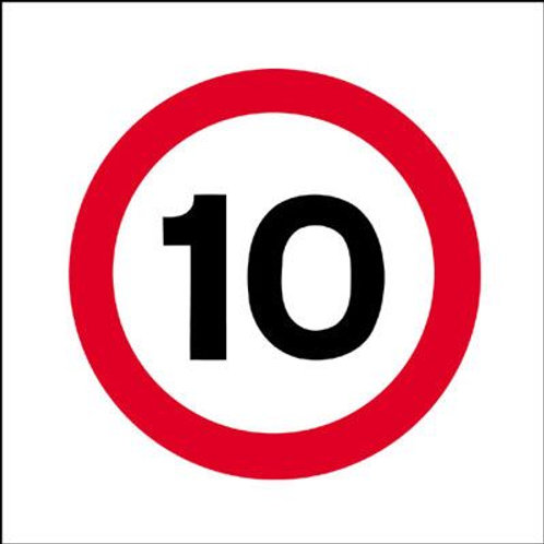 Safety / General / Construction Signs - Stanchion - 10 mph