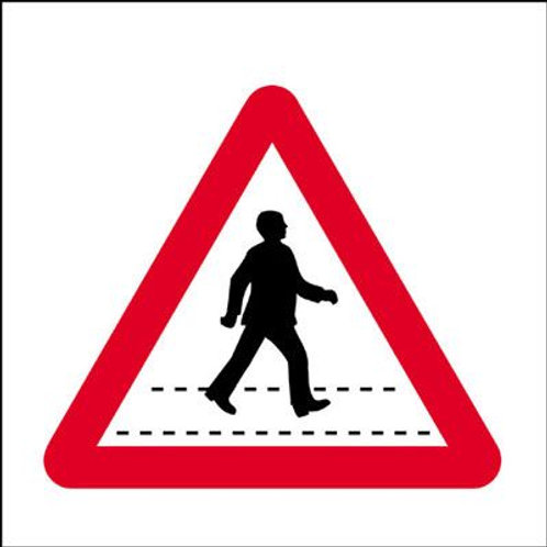 Safety / General / Construction Signs - Stanchion - Pedestrian Crossing