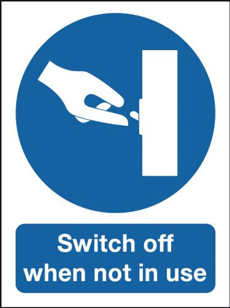 Safety / General / Construction Signs - Switch Off