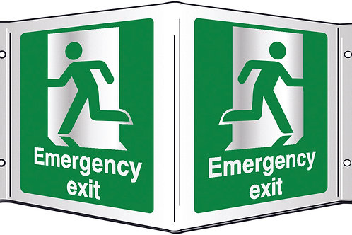 Projecting 3D Signs - Emergency Exit / Fire Exit / Exit / Running Man