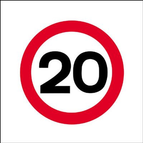Safety / General / Construction Signs - Stanchion - 20 mph