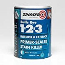 Zinsser Bulls Eye 123 Primer Sealer Grey 1Lt