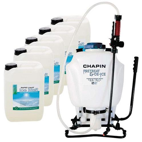 Liquid Ice Melt & Knapsack Sprayer Kit