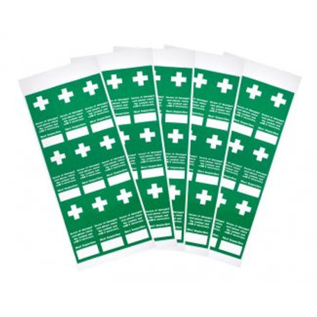 First Aid - Tamperproof First Aid Inspection Labels