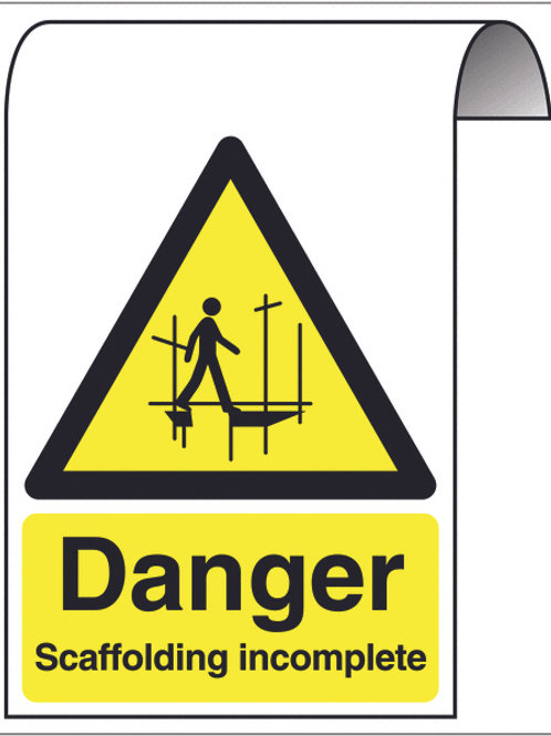 Safety / General / Construction Signs - Roll Top - Scaffolding