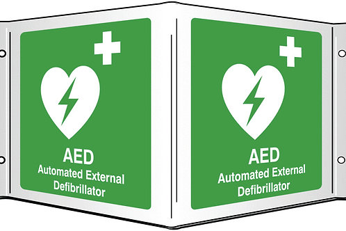 Projecting 3D Signs - AED / Emergency Shower / Eyewash / First Aid