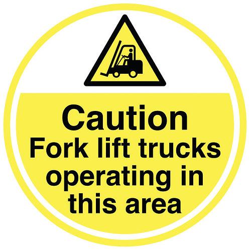 Anti-Slip Floor Signs - Fork Lift Trucks
