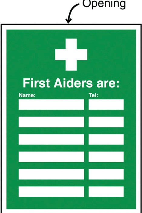 Safety / General / Construction Sign - Insert Signs - First Aiders