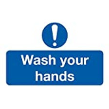 6-Pack Wash Your Hands On-The-Spot Safety Labels