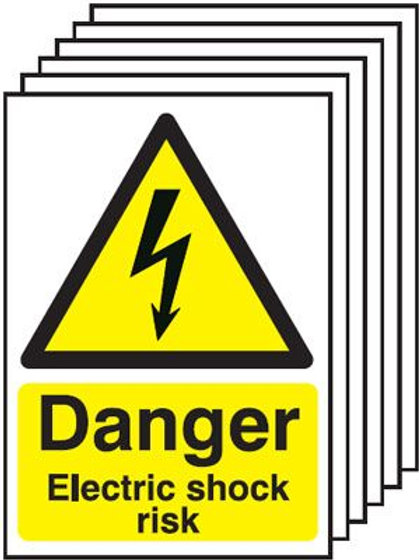 Safety / General / Construction Sign - Electric Shock Multi-Pack