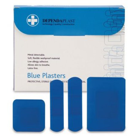 First Aid - Blue Detectable Plasters