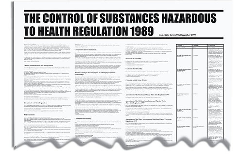 Safety / General / Construction - Posters - Workplace Regulation Wallcharts