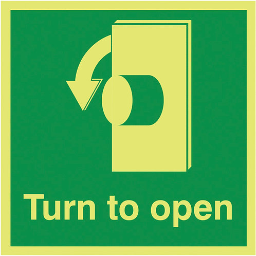 Safety / General / Construction Signs - Nite-Glo - Turn To Open
