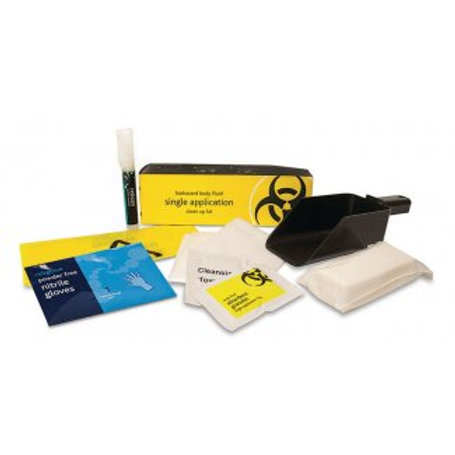 First Aid - Single Application Body Fluid Clean Up Kit