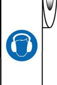 Labels on-a-roll - Ear Protection Symbol