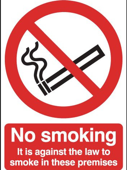 Safety / General / Construction Signs - Face Adhesive - No Smoking