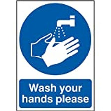 Wash Your Hands Please Signs - Vinyl