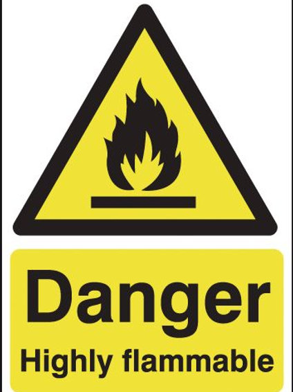 Safety / General / Construction Signs - Highly Flammable