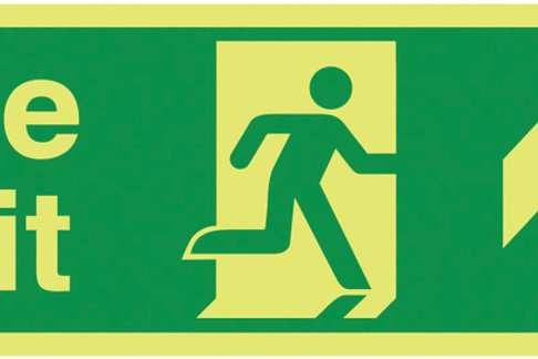 Safety / General / Construction Signs - Xtra-Glo - Fire Exit