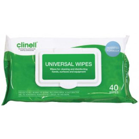 Clinell Universal Pack of 40 Wipes