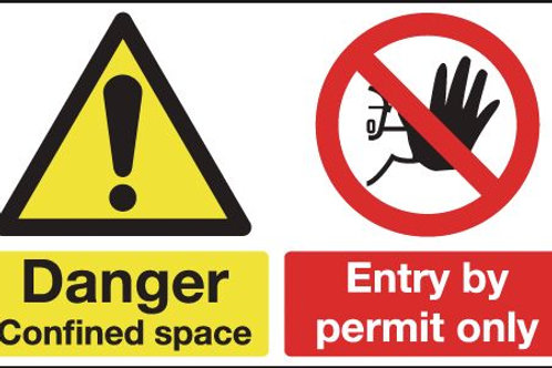 Safety / General / Construction Signs - Multi-Message - Confined Space