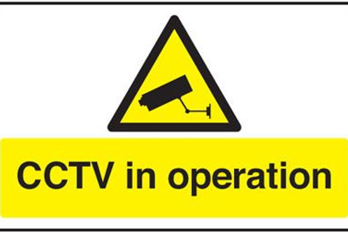 Safety / General / Construction Signs - CCTV In Operation