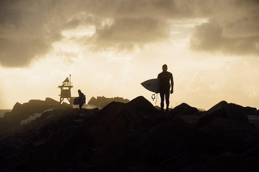 Breakwall Surfer-Canvas