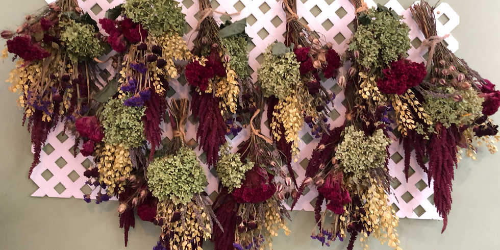 Dried flower Arranging and discussion...