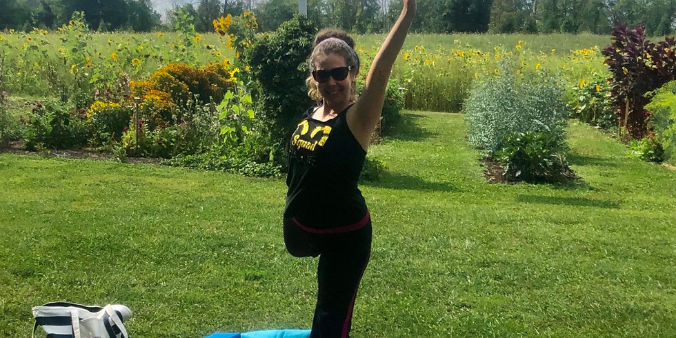 Morning Yoga Stretch In The Gardens