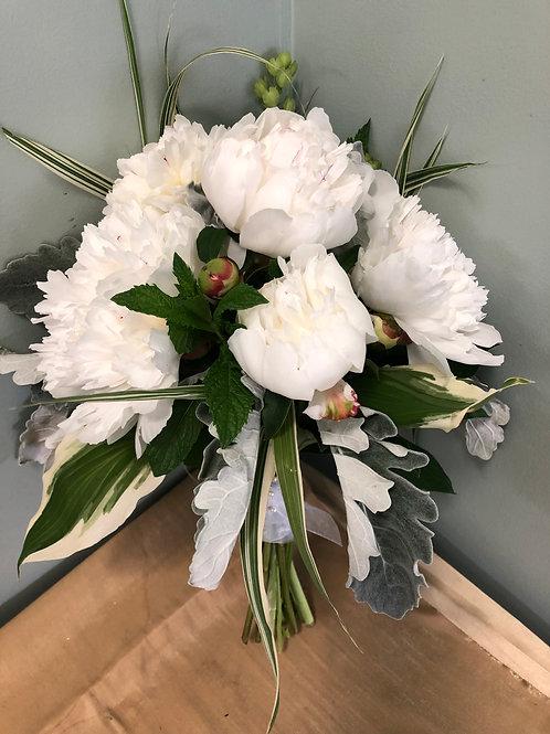 Elegant White Peony Bouquet
