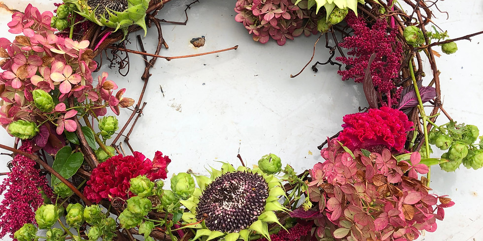 Wreath Making Class with Fresh Flowers