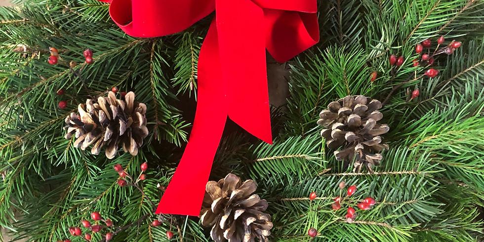 Decorate an Evergreen Wreath