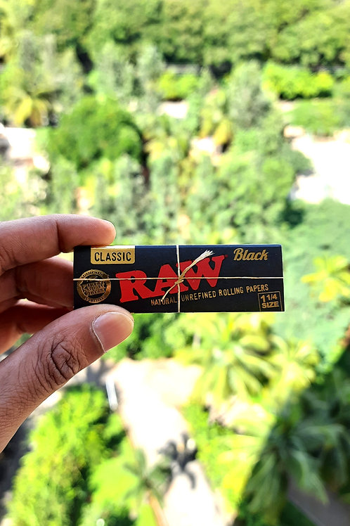 RAW Black 1 1/4th