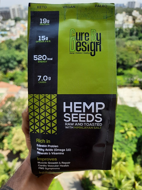 Cure By Design Hemp Seed Toasted
