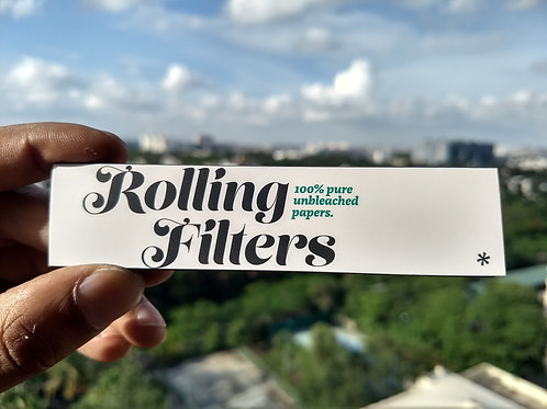 Rolling Filters Unbleached Wood Pulp Papers
