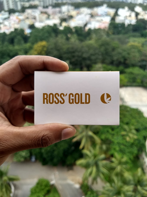 Ross' Gold Hemp Rolling Papers 1 1/4th Size