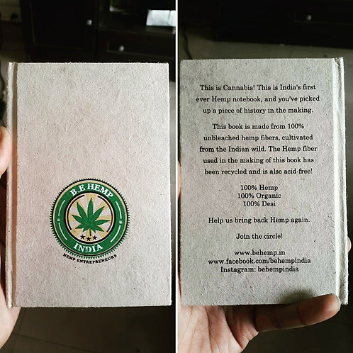 B.E Hemp's 100% Organic Hemp Notebook