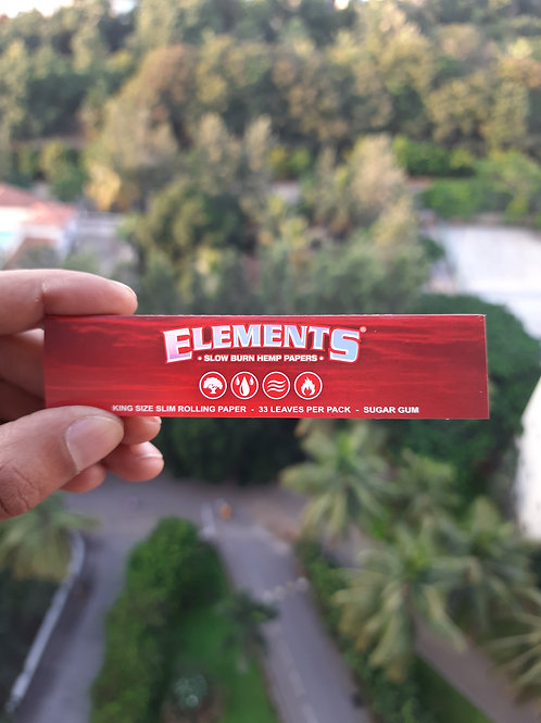 Elements Red King Size Slow Burn Hemp Papers (32 Leaves)
