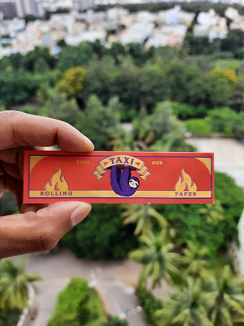 Taxi King Size Unbleached Brown Rolling Paper (3 Paper + 3 Roach Tips Each Bookl